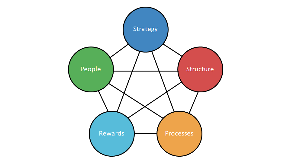 Strategy, Structure, People, Processes and Rewards