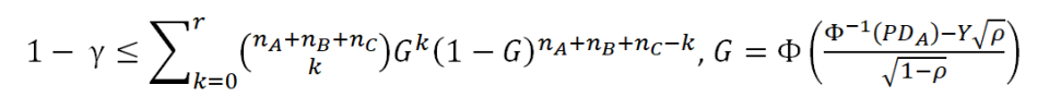 Formula for the case of dependent default events