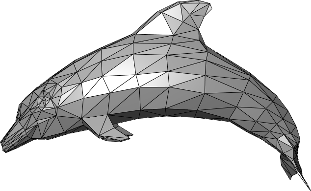 Triangle mesh that draws a dolphin