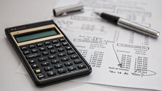 Calculator and financial statement